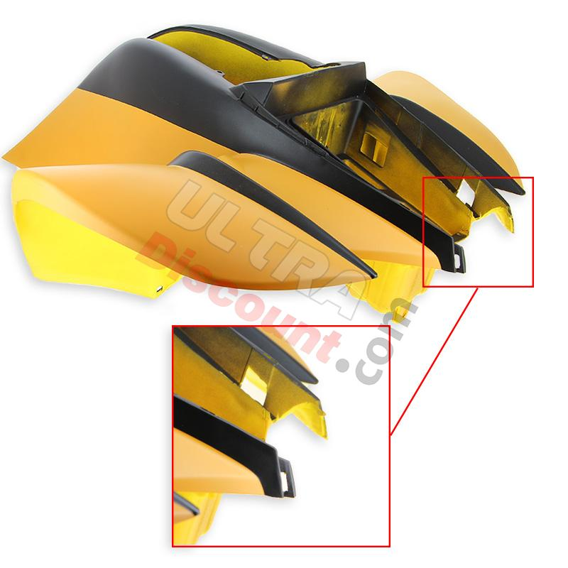 front fairing for atv bashan quad 200cc (bs200s-7) - black/yellow (factory 2nd), bashan parts atv bs200s-7