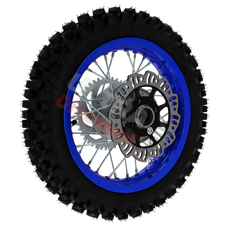 12 39 39 rear wheel for dirt bike agb27 12mm tread lug blue wheels and tires dirt bike spare. Black Bedroom Furniture Sets. Home Design Ideas
