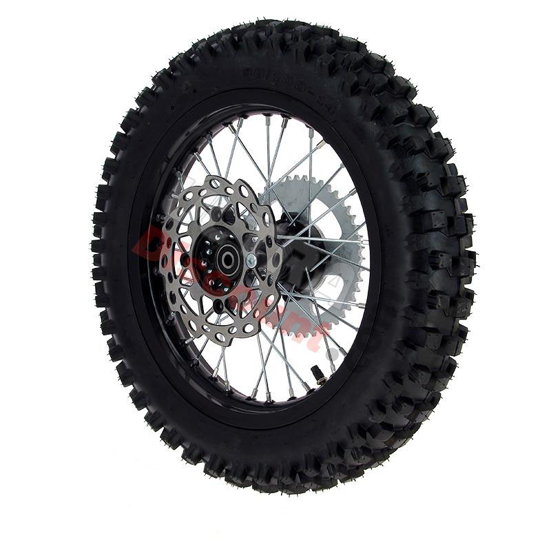 full 14 39 39 rear wheel for dirt bike agb30 black wheels and rims dirt bike spare parts. Black Bedroom Furniture Sets. Home Design Ideas