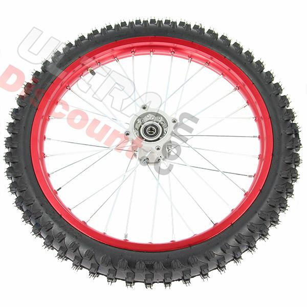 19 front wheel for dirt bike agb30 - red, dirt bike spare parts