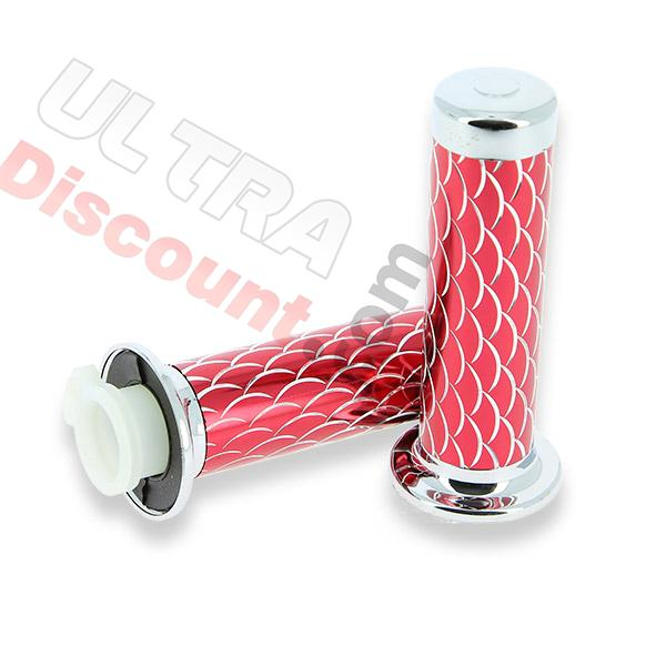 handlebar grips - scale style - red, pocket bike spare parts