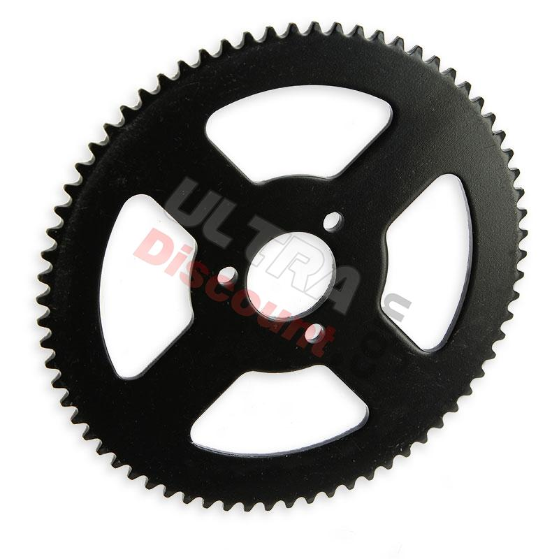 70 tooth reinforced rear sprocket (small pitch), pocket bike spare parts