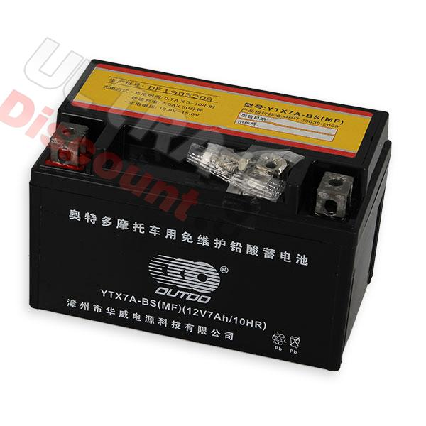 battery ytx7a-bs for dirt bike, dirt bike spare parts