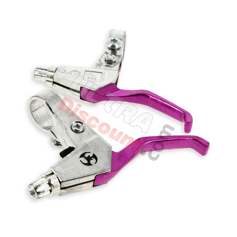 aluminum brake lever - purple, pocket bike spare parts