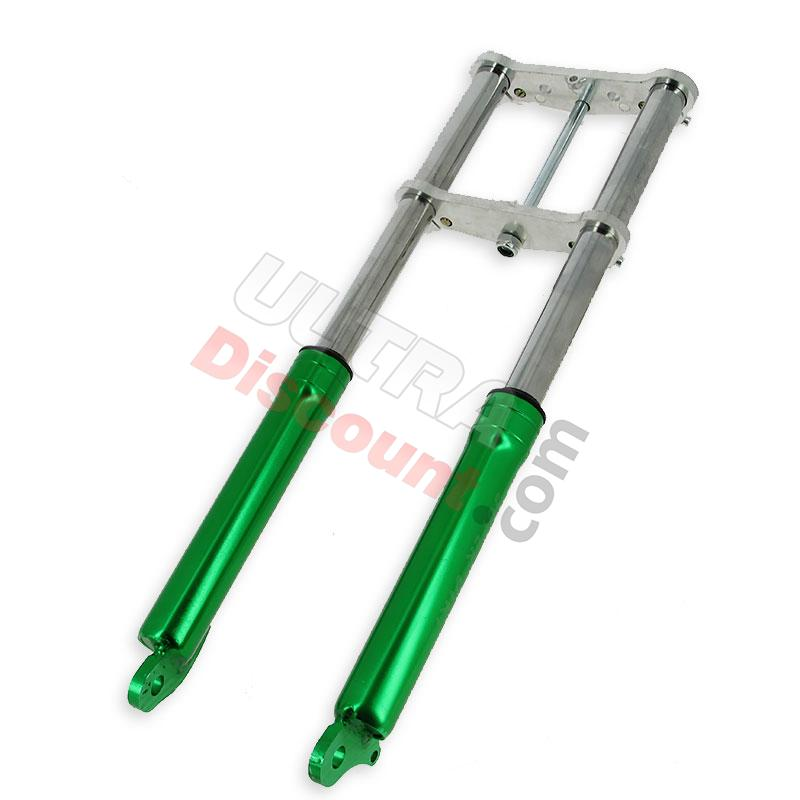 front fork cross pocket bike green, cross pocket bike parts