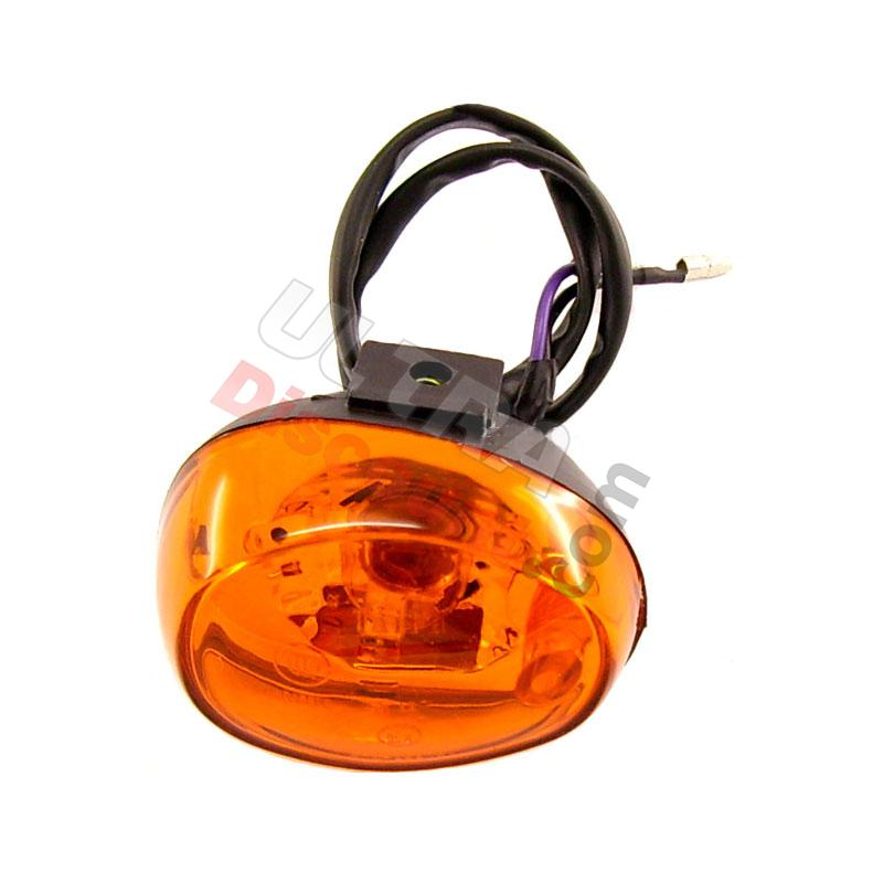front left turn signal for baotian scooter bt49qt-12, baotian parts - bt49qt-12
