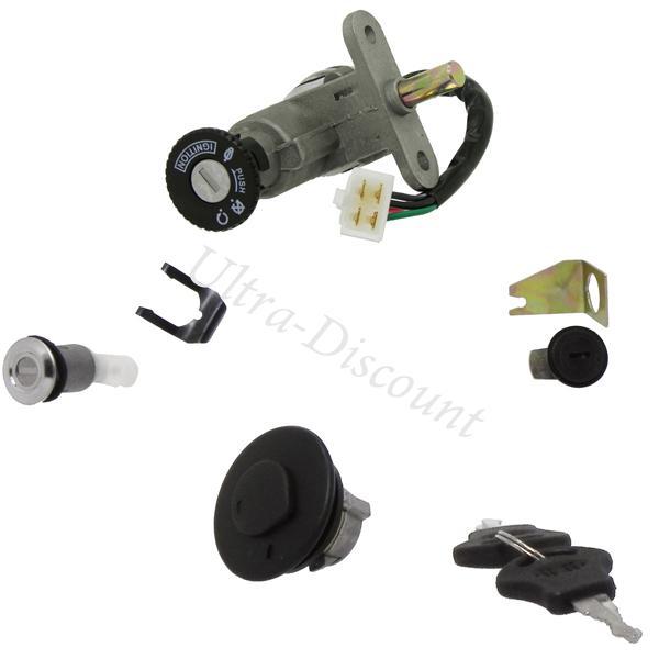 complete lock assy for baotian scooter bt49qt 12 lock assy baotian parts bt49qt 12