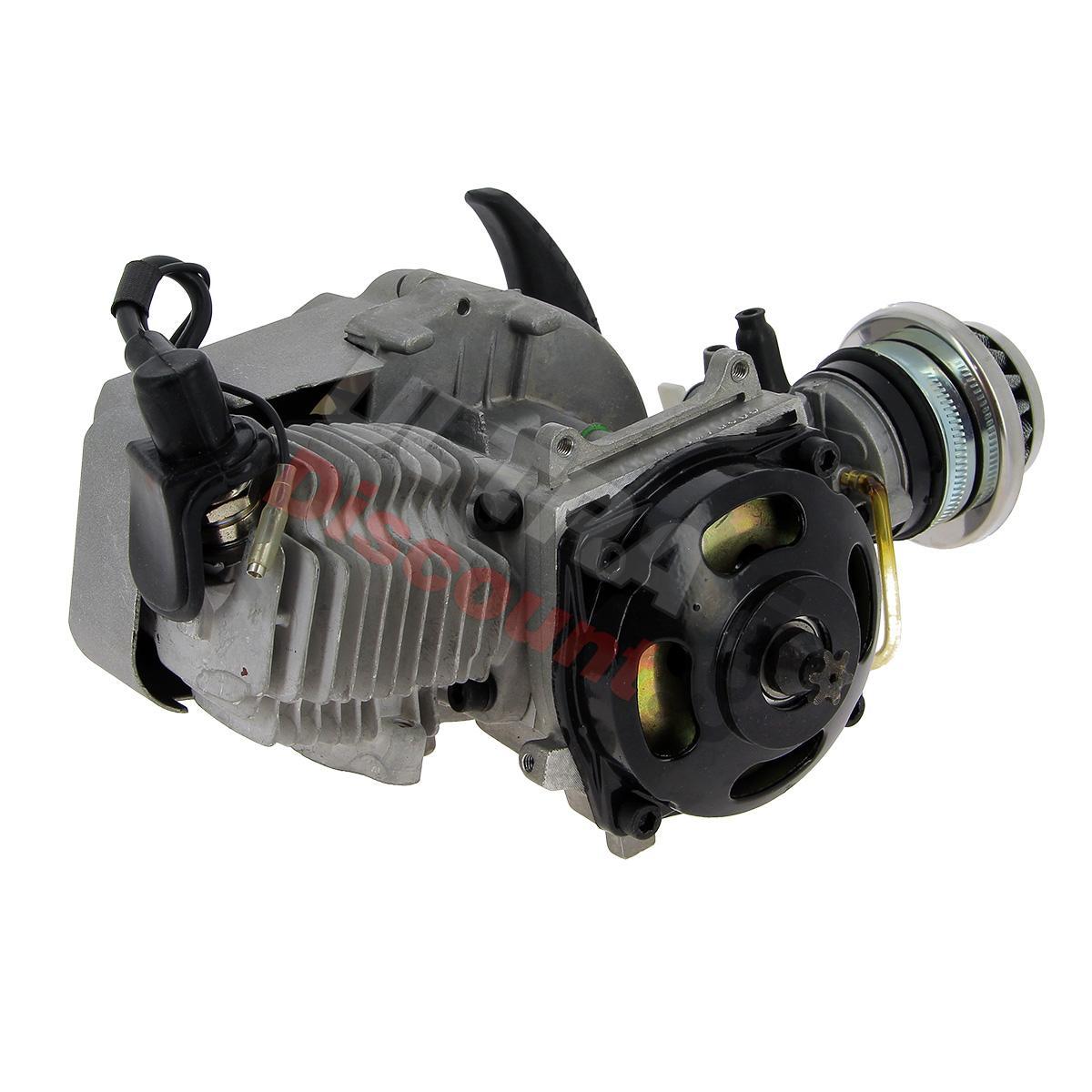 engine for pocket quad 49cc racing air filter alu recoil starter type 2 engine pocket. Black Bedroom Furniture Sets. Home Design Ideas