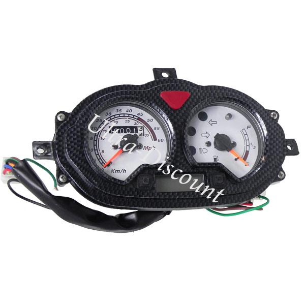 speedometer for chinese scooter 50cc type 1 lights scooter spare parts ud. Black Bedroom Furniture Sets. Home Design Ideas