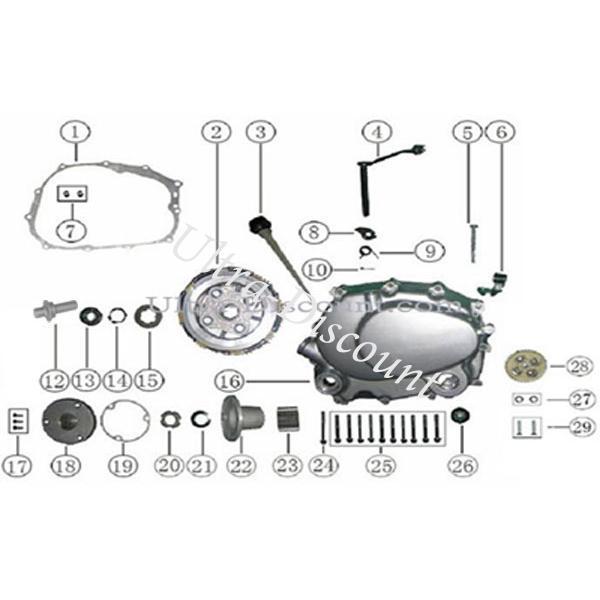 Clutch For Atv Shinerayquad 250cc Stxe  Piston  Crankshaft