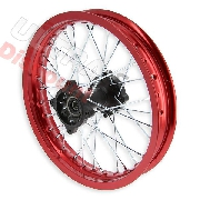 14'' Rear Rim for Dirt Bike AGB30 (type 4, Ø15mm) - Red