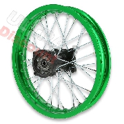 14'' Rear Rim for Dirt Bike AGB30 (type 4) - Green