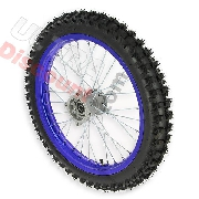 17'' Front Wheel for Dirt Bike AGB30 - Blue