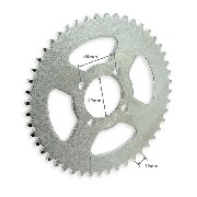 48Tooth Reinforced Rear Sprocket for Dirt Bike (model 2 - 420)
