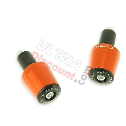 Custom Handlebar End Plugs (type 7) - orange for Racing pocket ZPF