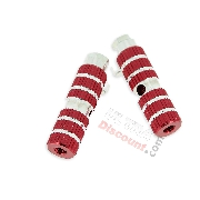 Aluminum Foot Pegs - TAF02 - Red