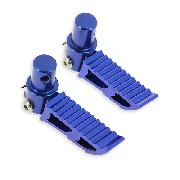 Custom blue Foot Pegs typ3 for Pocket Bike