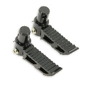 Custom black Foot Pegs typ3 for Pocket Bike