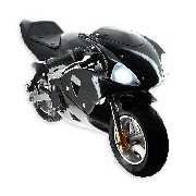 Pocket Bike 49cc black with front optics