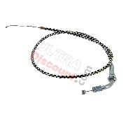 Throttle Cable (type A) - Black-Alu