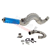 R1 Racing Exhaust for Pocket Bike - Blue