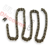 64 Links Reinforced Drive Chain for Pocket Bike (small pitch)