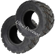 Pair of Rear Road Tires for ATV Quad Bashan 200cc BS200S3  - 18x9.50-8