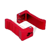 Aluminum Foot Pegs - Red