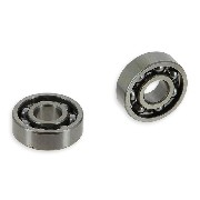 Pair of Wheel Bearings Baotian 50cc BT49QT-11 (6201)