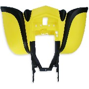 Rear Fairing for ATV Bashan Quad 200cc (BS200S-7) - Black-Yellow