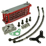 Oil Cooler (type 2, Red) for ZB Honda / PBR Skyteam