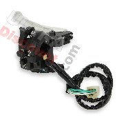Left Switch Assembly for Dax 50cc ~ 125cc - Black and aloy