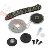 Cam chain set 125cc for Bubbly Skyteam