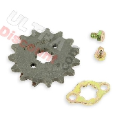 Sprocket drive and fixing for engine 125cc for Bubbly Skyteam