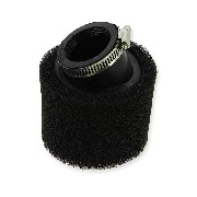 Double angled foam air filter - 41-43mm - Black