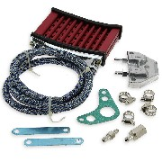 UD Racing Oil Cooler for Dirt Bike - Red