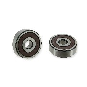 Pair of Wheel Bearings Ø10 for Dirt Bike 6300-RS