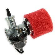 Mikuni 30mm Carburetor + Air Filter (Red) for PBR