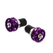 Custom Handlebar End Plugs (type 3) - Purple