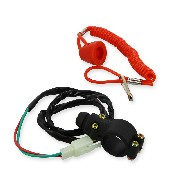 Pull Kill Switch typ1 Red for ZPF Pocket Bike Racing Parts