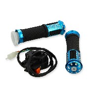 Grip set tuning w- Kill Switch blue for ZPF Pocket Bike Racing Parts