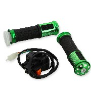 Grip set tuning w- Kill Switch green for ZPF Pocket Bike Racing