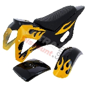 Fairing for Cross Pocket Bike (type 1) - Black-Yellow