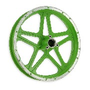 Rear Rim green for Cross Pocket Bike (10'', type 1)