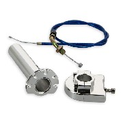 HQ Billet Quick Throttle (Alu) + Throttle Cable (Blue)