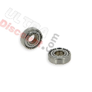 Pair of Wheel 6001Z Bearings w- scrap metal protection for Cross Pocket Bike