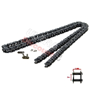 64 Large Links Reinforced Drive Chain for Cross Pocket Bike - TF8