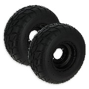 Pair of Rear Wheels with Road Tires for ATV JYG Quad 200cc