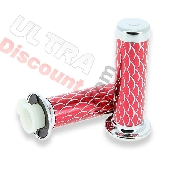 Handlebar Grips - Scale Style - Red