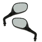 Pair of mirrors for Jonway Scooter YY50QT-28 - Black